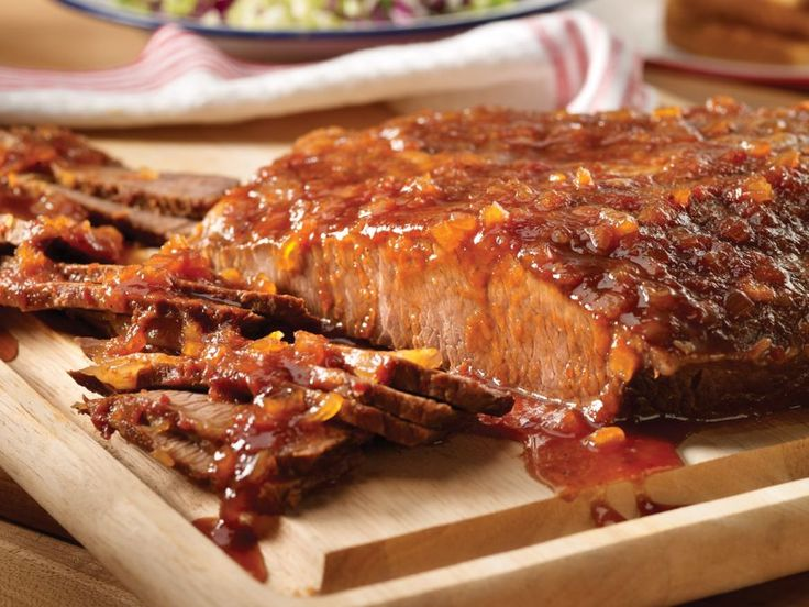 Dr. Pepper Barbecued Beef Brisket - easy and delicious (I also add 1/2 cup salsa and 1 tsp hot sauce to kick it up a notch)