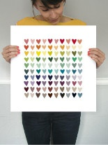 Paper Hearts art print from Minted