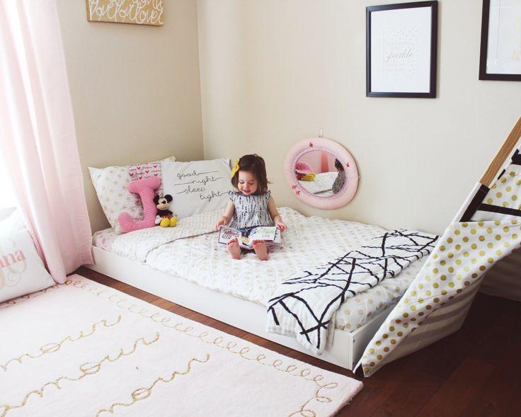 Montessori Floor bed Toddler bed/ Big kid room ideas / Kids decor