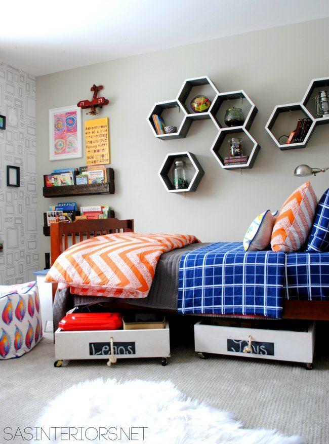 Tendencias: estanterías hexagonales: las estanterías con forma de hexágono están de moda, compartimos fotos inspiradoras y una dirección de compra.
