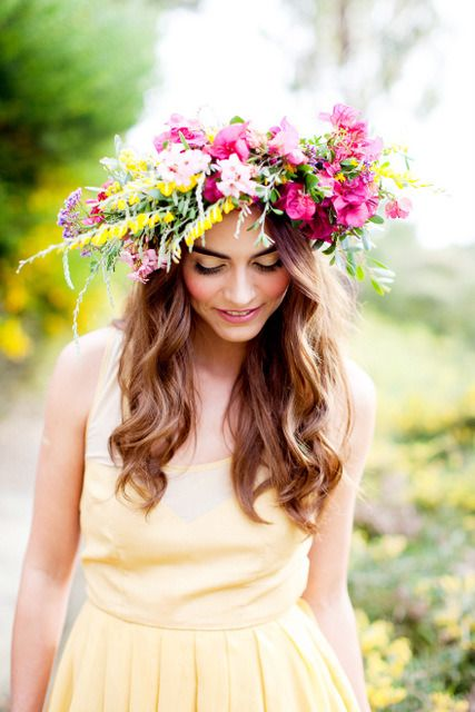 awesome hair styles best 25 flower crown hairstyle ideas on 8841
