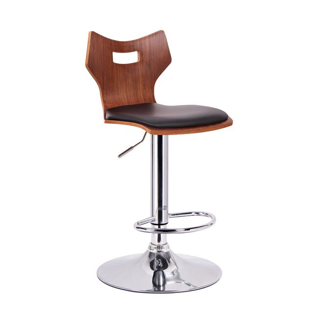 Enjoy hours of fun and entertainment at your counter or bar with a great stool. This Amery Modern Bar Chair takes a unique seat shape and pairs it with the beauty of walnut veneered plywood.