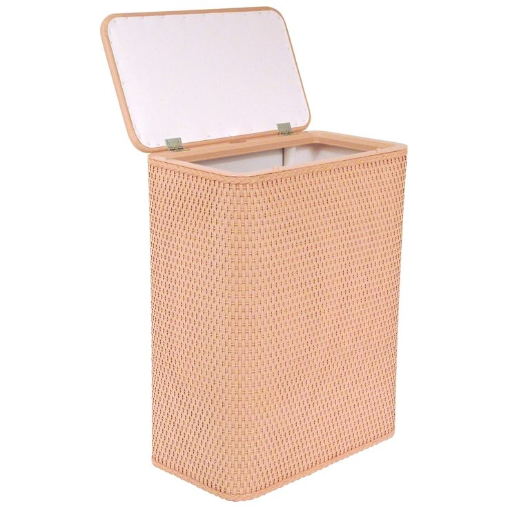wicker laundry hamper with matching lid