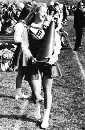 Meryl was a cheerleader, AND Homecoming Queen (Streep in 1967, via the Daily Beast) Sorry, but she loses a brownie point with me for her stint as a cheerleader.