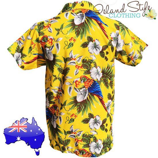 205ab8e5dfc24f Mens Hawaiian Shirt - Yellow Magnum / parrot head - Go Green & Gold  #hawaiianshirt #partyshirt | iconic looks | Mens hawaiian shirts, Vintage  hawaiian, ...