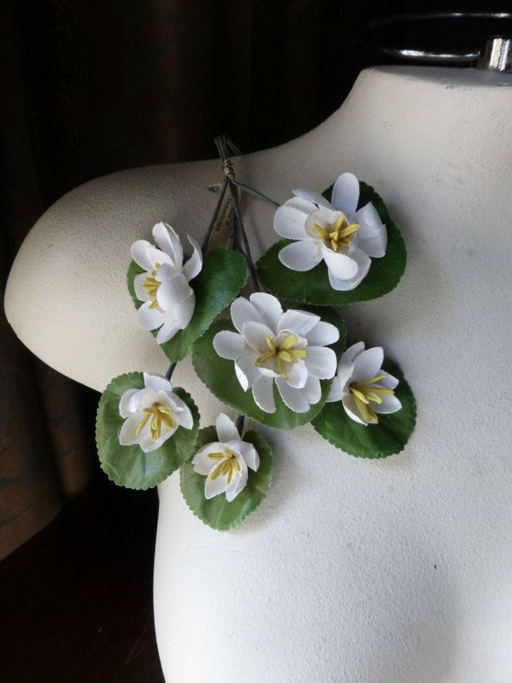 Lily Pads Waterlilies Vintage Czechoslovakian  for Bridal, Boutonnieres, Hat or Costume Design, Floral Supply