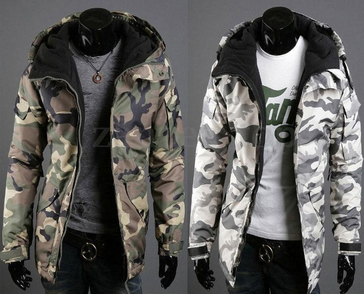 Men's Thick Warm Coat Army Camo Hoodie Camouflage Military Hooded Zip Up Jacket  | eBay