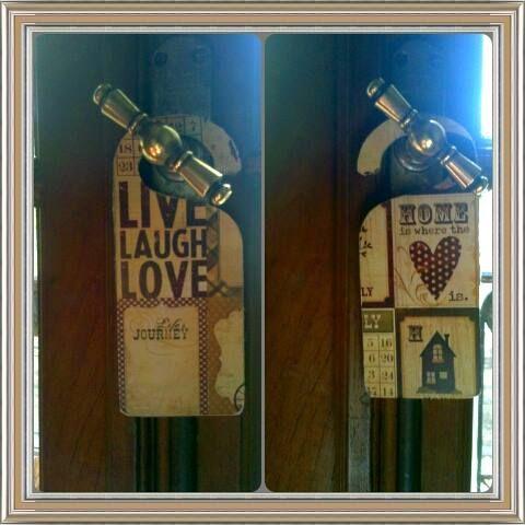 Colgante Puerta Reversible. Live, Laugh, Love Home is where the <3 is. #Decoupage #Hammurabideco