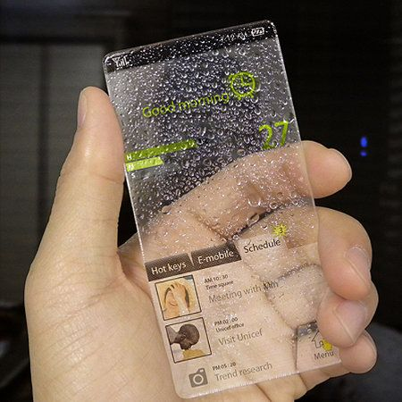 Glass phone (with Google Android if possible...) これ実現したら欲しい。
