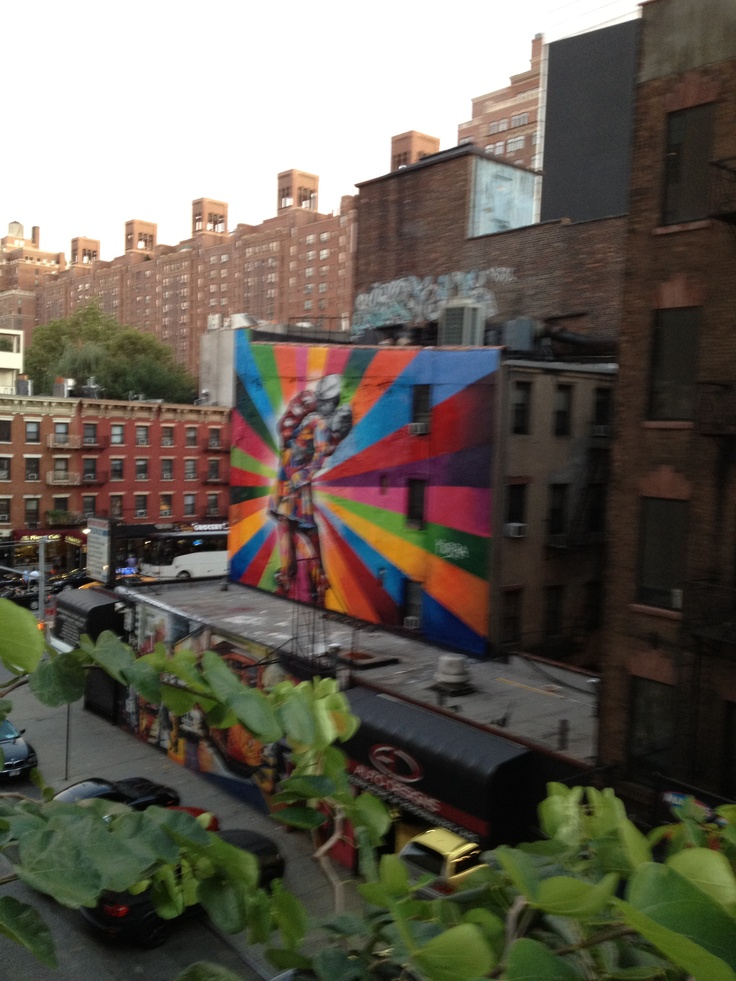 #streetart from the Highline in NYC, Sept 2012
