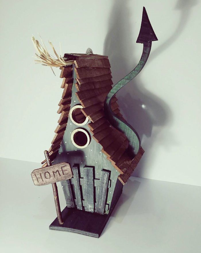 Guy Builds Fairytale Style Birdhouses That Look Absoultely Magical