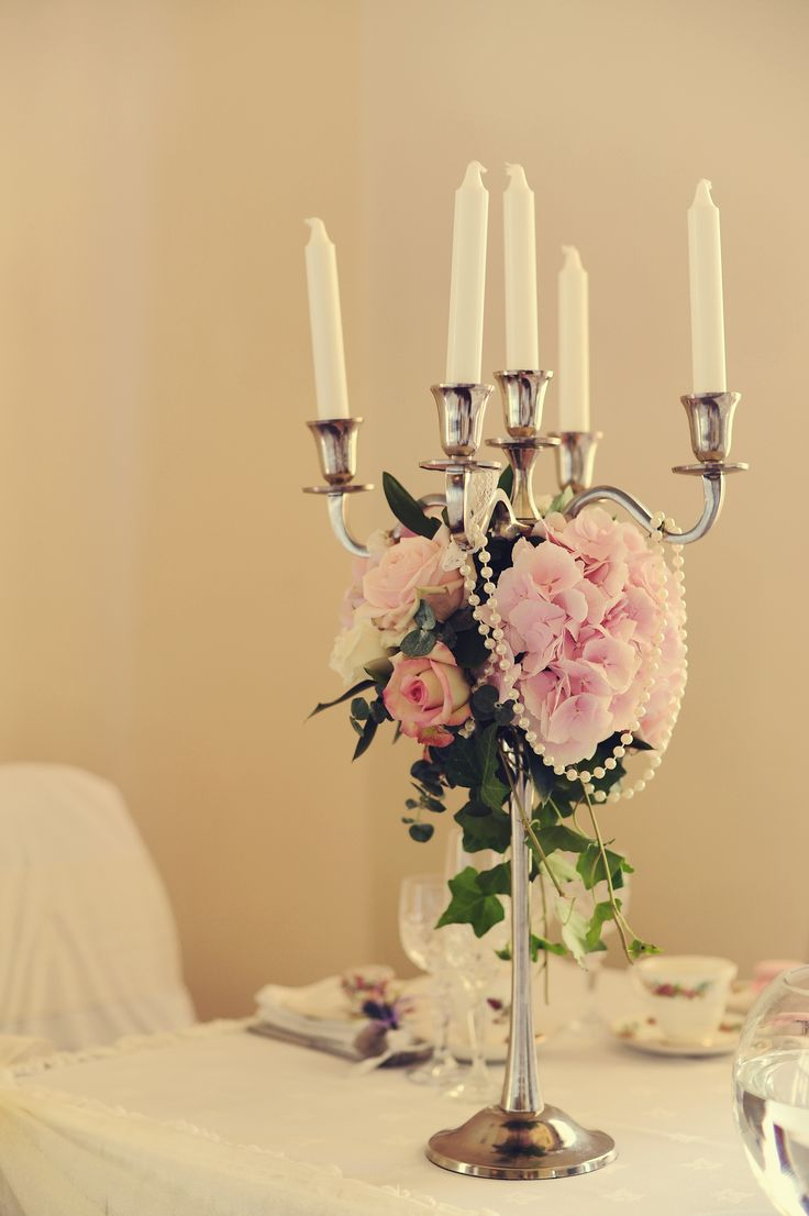 Beautiful candles for a romantic top table