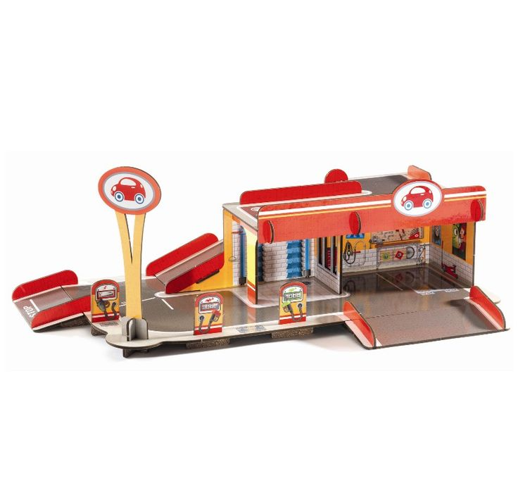 Djeco garage - 3D leg - Tinga Tango Designbutik #djeco#legetøj#børneværelse