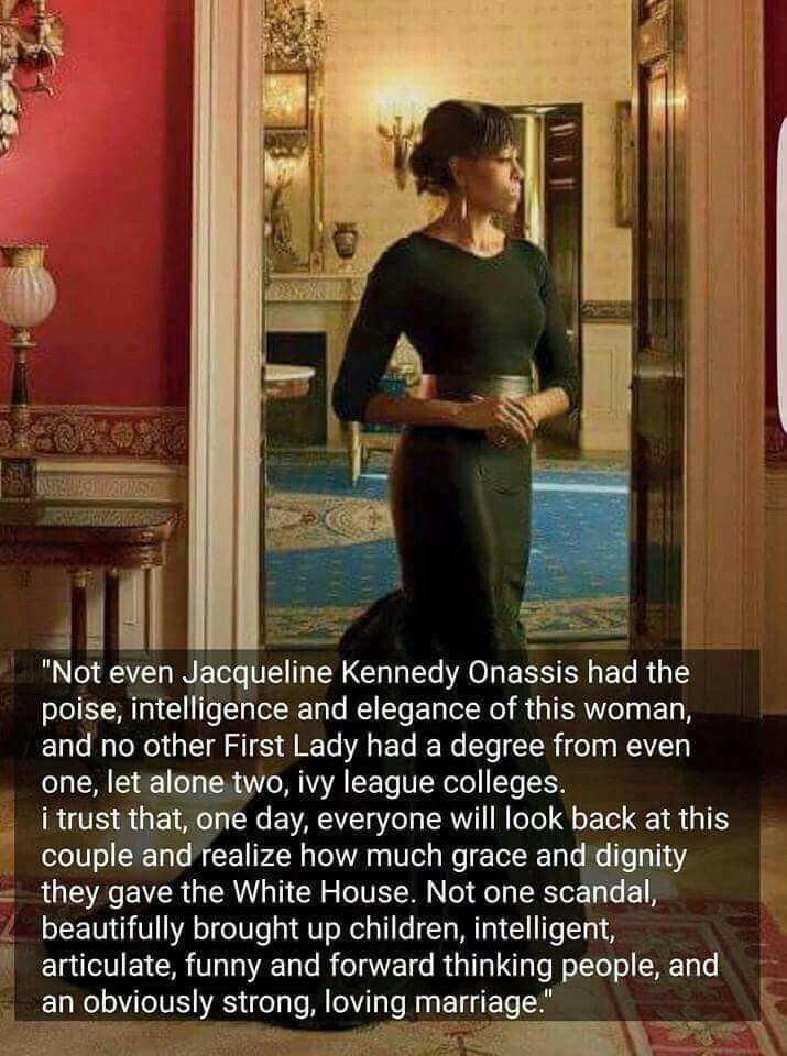 Elegance, grace, poise and Intelligence! FLOTUS Michelle Obama!