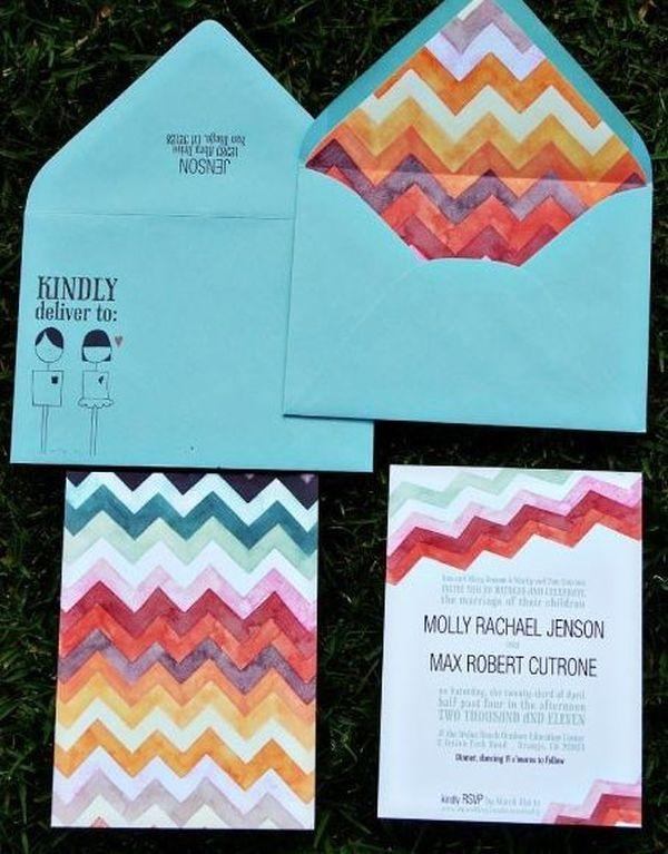 Chevron Wedding Details (Pitbulls and Posies stationery)