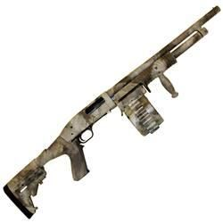 "Adaptive Tactical Maverick 88 Security Pump Action Shotgun 12 Gauge 18.5"" Barrel 2.75"" Chamber 10 Round Sidewinder Venom Drum Magazine Adjus..."