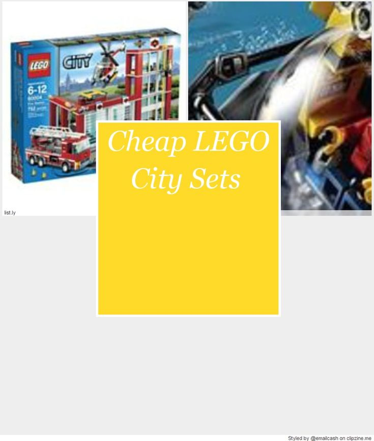 Use cheap LEGO City sets to build a LEGO town out of your imagination. There are police sets, fire engines, helicopters, trains and just about anything you can imagine.