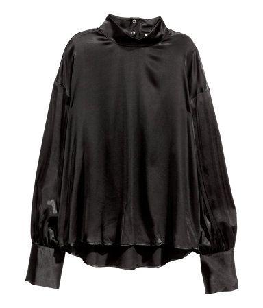 Wide-cut Blouse   Black   Ladies   H&M US