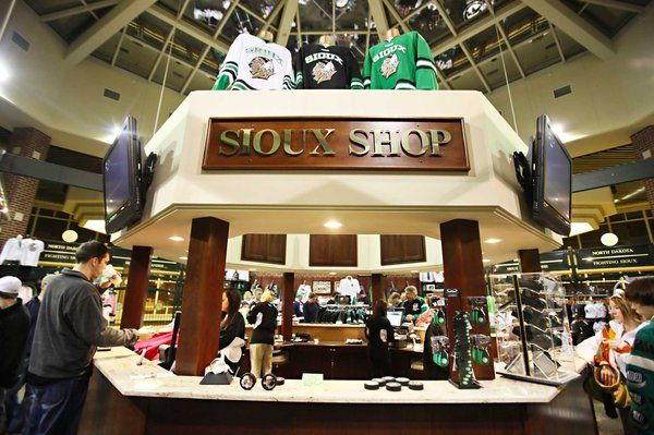 Still selling Sioux merchandise at the Sioux Shop in the Ralph Engelstad Arena located in Grand Forks, ND