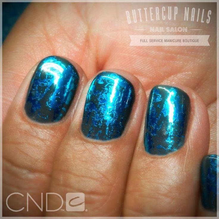 CND Shellac in Asphalt with teal foil.  #CND #CNDWorld #CNDShellac #Shellac #nails #nail #nailstagram #naildesign #naildesigns #nailaddict #nailpro #nailart #nailartist #nailartdesign #nailartofinstagram #nailartdesigns