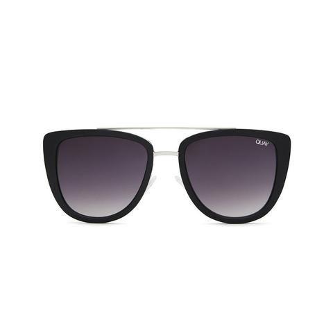 Quay Australia | French Kiss Sunglasses in Black Smoke Lens