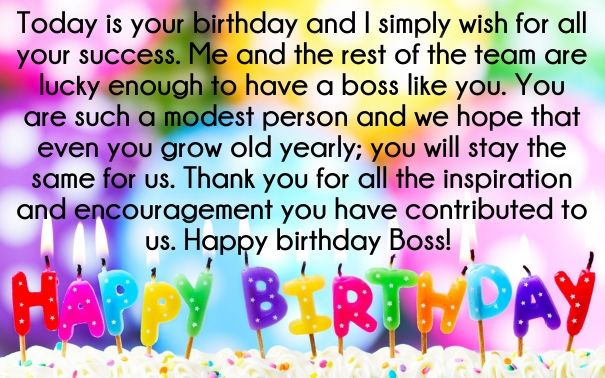30 Best Boss Birthday Wishes Quotes With Images Birthday