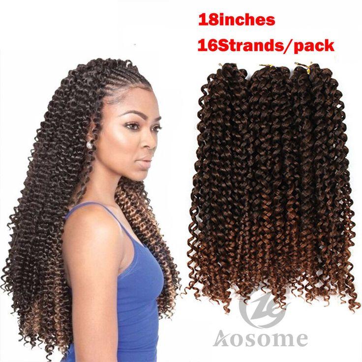 8Pack Freetress Synthetic Water Wave Bulk Braid Crochet Latch Hook Braiding Hair #AOSOME #waterwavesynthetichairextension