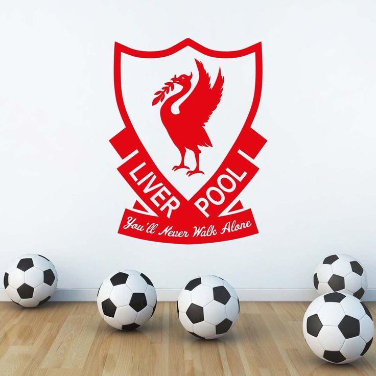 "Liverpool LFC Style ""LFC Crest"" Wall Decal"