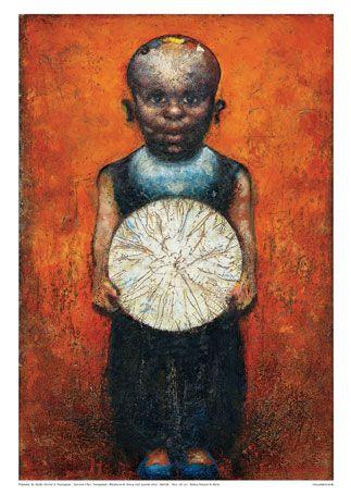 Kurt Trampedach - Dreng med lysende cirkel / Boy w