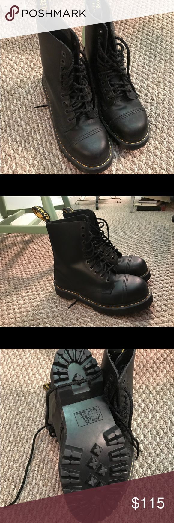 Dr. Marten Steel Toe Boots Brand new Dr. Marten steel toe boots! No tags, but never warn Dr. Martens Shoes Combat & Moto Boots