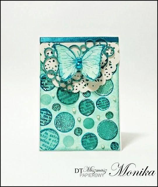 Szafranowe Twory: motylkowo bąbelkowy sTworek dla miszmaszu papierowego!