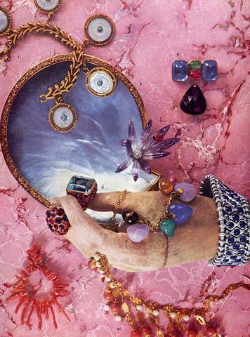Herz-Belperron clip & Rings and Rene Boivin sapphire bracelet, 1953.