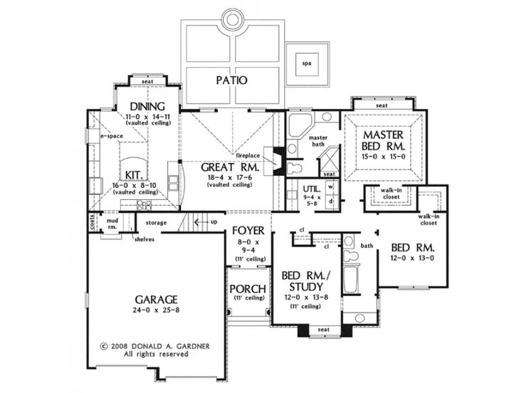 small house with big rooms semi open plan kitchen ForHouse Plans With Separate Kitchen