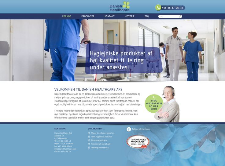 Ny hjemmeside bygget i Wordpress for firmaet Danish Healthcare. #Wordpress #Webdesign