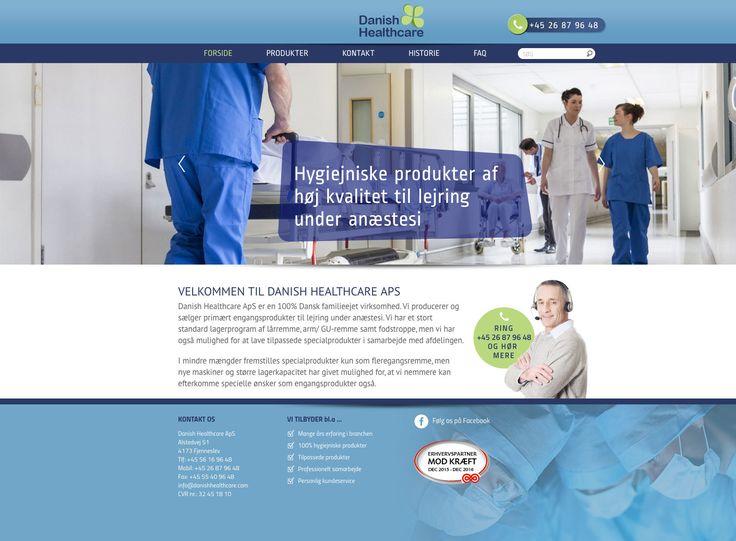 Ny hjemmeside bygget i Wordpress for firmaet Danish Healthcare. #Wordpress #Webdesign