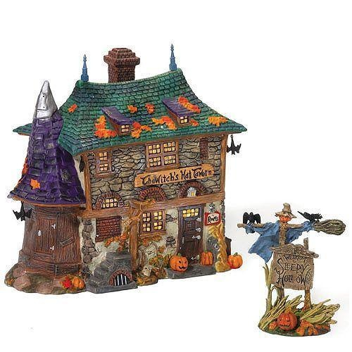 department 56 halloween village witchs hat tavern