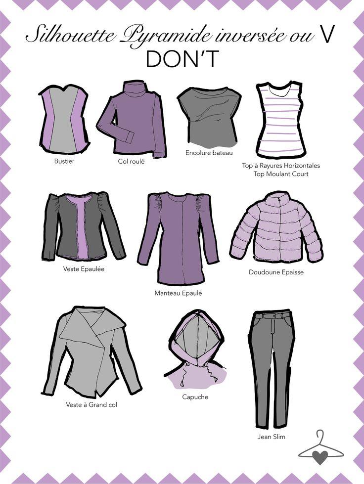Nouvel article ma personal Wardrobe : La silhouette en V ou pyramide inversée !#Conseil #Morpho #Lamodeuse