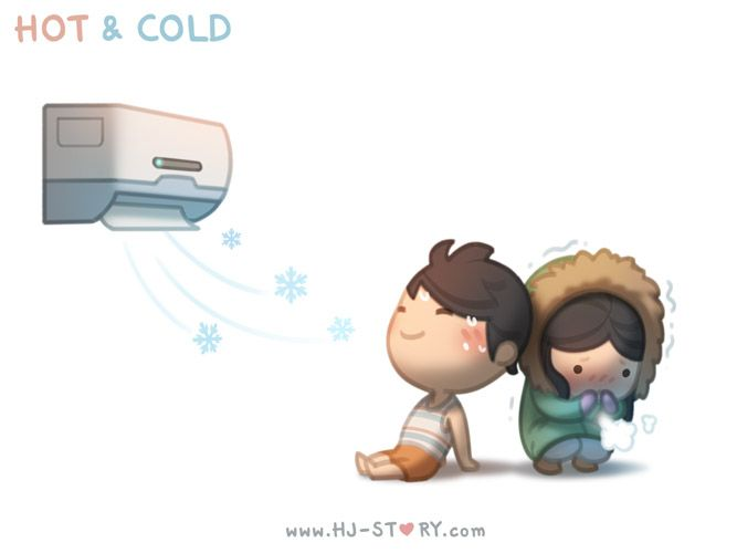feeling hot and cold in a relationship
