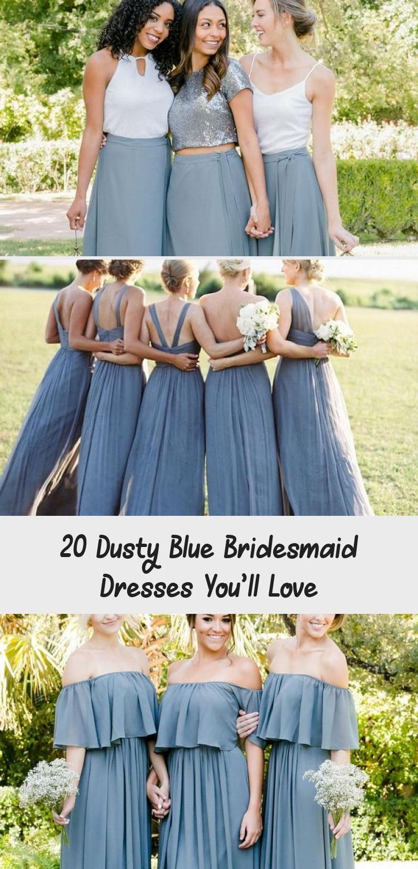 dusty blue wedding color ideas - dusty blue bridesmaid dresses  #weddings #wedding #blueweddings #weddingcolors #weddingideas #dustyblue #beautiful #dresses #bridesmaid #BridesmaidDresses2018 #BridesmaidDressesIndian #AfricanBridesmaidDresses #BridesmaidDressesStyles #LilacBridesmaidDresses