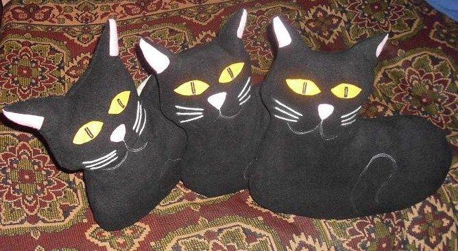 polštářky - kočky