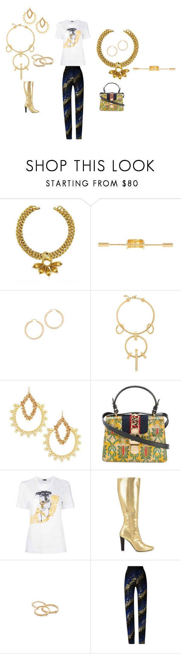"""BOOKMARK CEIL"" by ramakumari ❤ liked on Polyvore featuring VANINA, Balenciaga, Bronzallure, Schield Collection, Devon Leigh, Gucci, Versace, Yves Saint Laurent, Elizabeth and James and Antonio Berardi"
