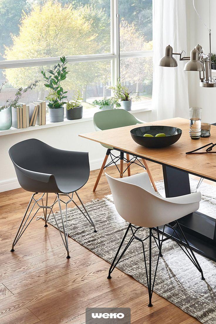 Cooler Schalenstuhl Erhaltlich In Verschiedenen Farben Design Stuhle Esszimmer Kuchentisch Und Stuhle Wohn Esszimmer