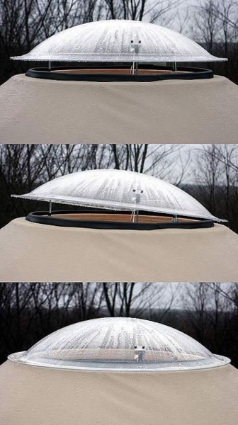 adjustable dome window #yurt