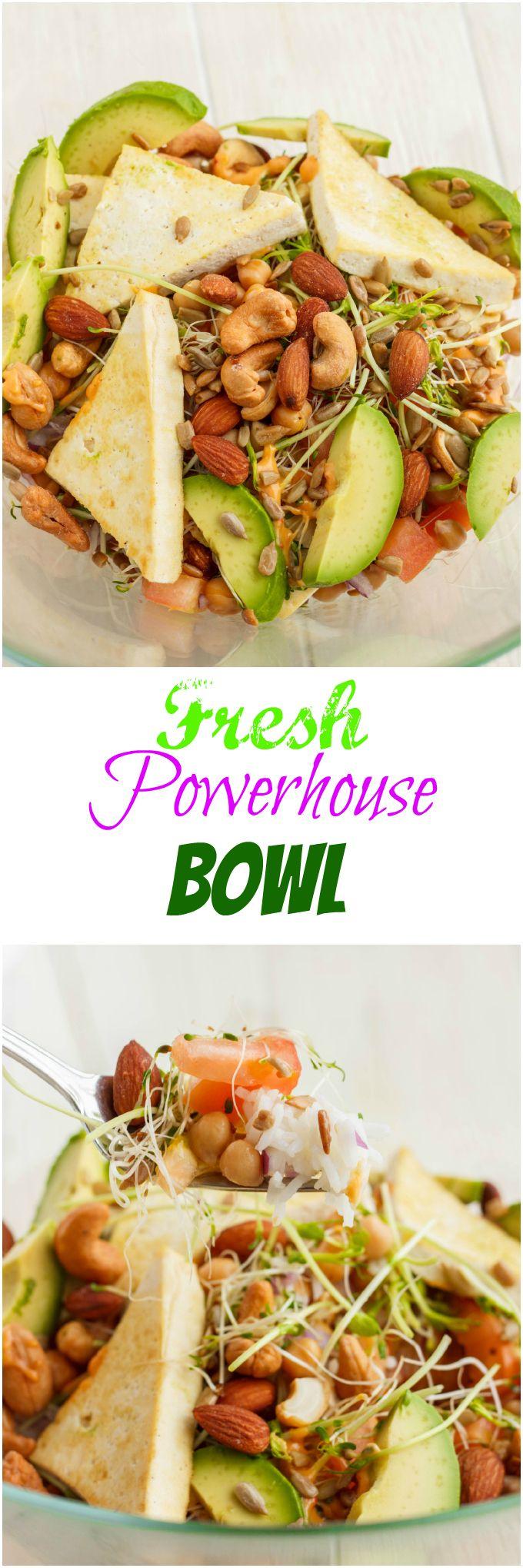 Fresh Powerhouse Bowl: Recipe from the popular Toronto Restaurant! #vegan and #glutenfree