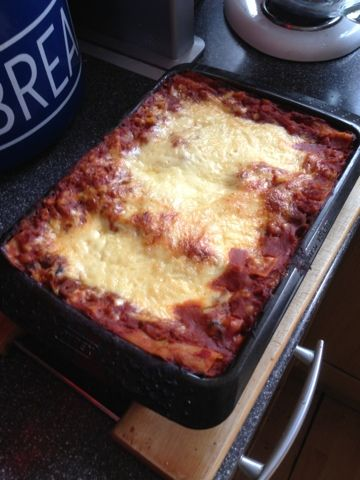 Vicki-Kitchen: Baked bean lasange (slimming world friendly)