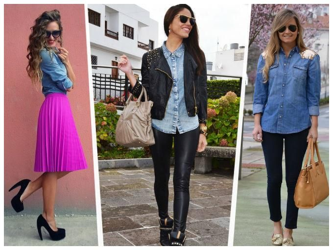Resultado de imagen para camisas de jean para mujer 2013
