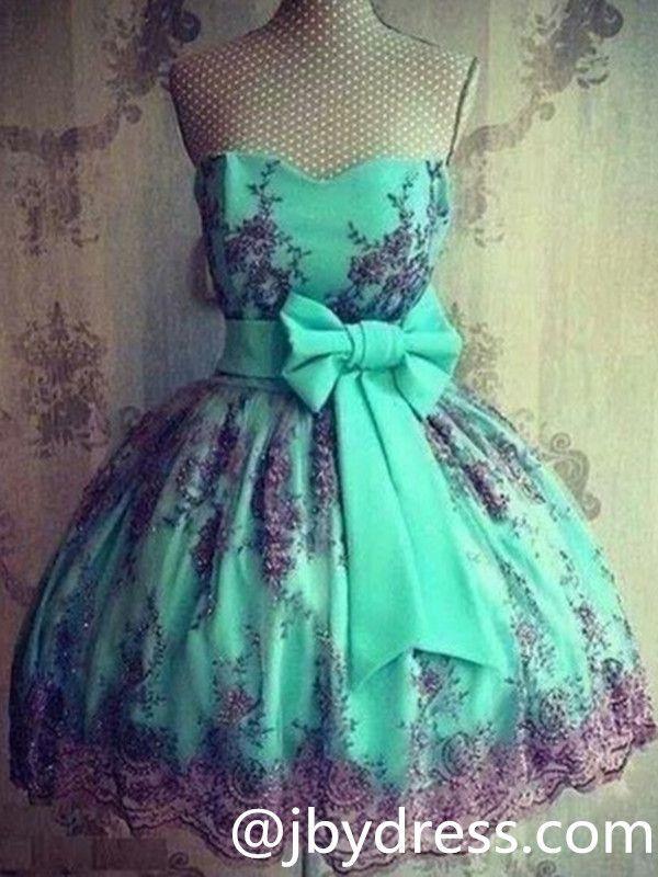 Custom Made Colorful Short Lace Prom Dresses, Lace Graduation Dresses, Homecoming Dresses