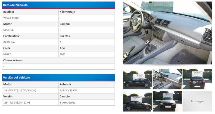 BMW SERIE 1 BERLINA (E81/E87) 116I 1.6 16V CAT (116 CV) | 05.04 - 12.08