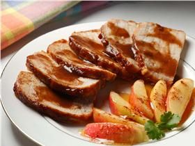 Grilled Pork Tenderloin with Apple Butter Glaze. Give traditional pork & apples a new twist!