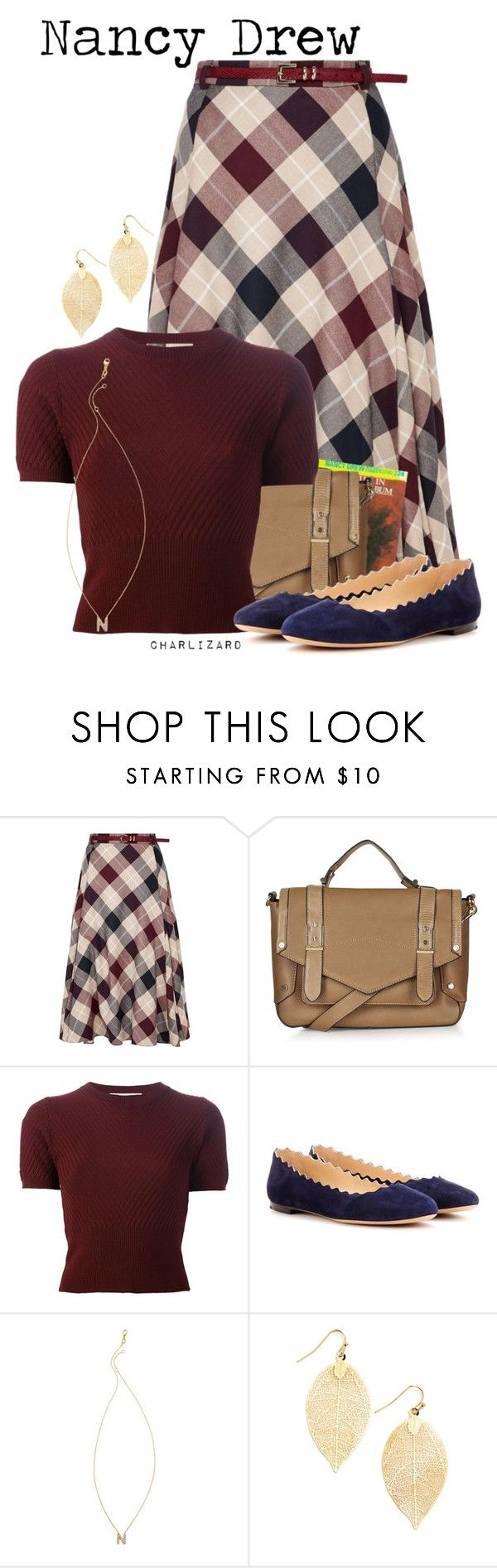 """Nancy Drew"" by charlizard ❤ liked on Polyvore featuring CC, Topshop, Marni, Chloé, Sarah Chloe, vintage, women's clothing, women, female and woman"